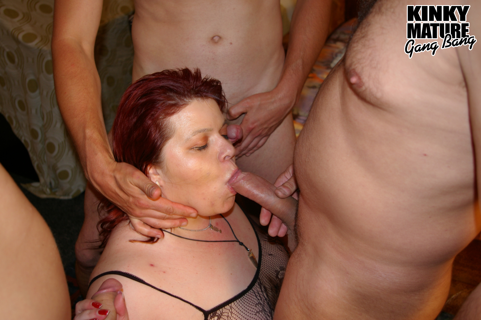 A gang bang for a blond girl with big tits 4